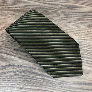 Robert Talbott Grey, Black & Cream Stripe Tie